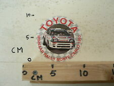 STICKER,DECAL TOYOTA WINNAAR RALLY MONTE CARLO 1993 CASTROL TOYOTA RALLYCAR A