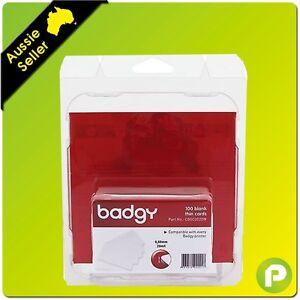 Badgy Printers Thin PVC Cards 100pk