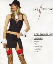 Clearance - Sexy Mafia Gangster Girl Gangsta Moll Fancy Dress Costume M L 10 12