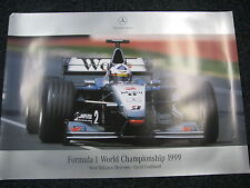 Poster West McLaren-Mercedes MP4-14 1999 #2 David Coulthard (GBR) (JS)
