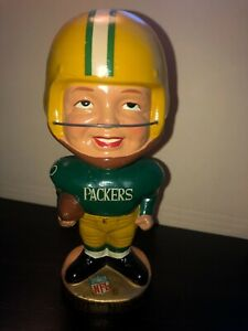 Vintage Green Bay Packers Japan Bobblehead 1968 Real Face RARE Original