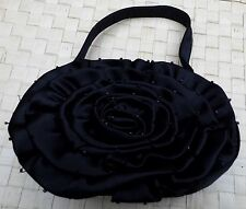 BULAGGI Petites Satin Noir Soirée Fleur Sac à main