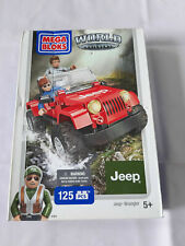 MEGA BLOKS World Builders 97803 Jeep Wrangler 125 Pieces + 2 figures 5+ NEW