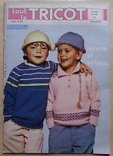 #) catalogue ancien laine TOUT LE TRICOT n° 172 layette enfants - 1981