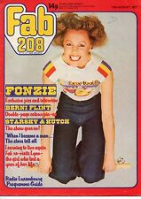 Fab 208 Magazine 13 August 1977      Henry Winkler      Berni Flint