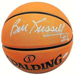 Bill Russell Celtics Hand Signed #6 Inscribed Autographed NBA Basketball COA