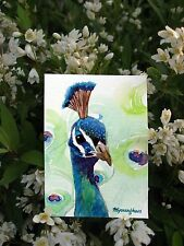 ACEO Limited Edition - Peacock, Valentine's day gift idea