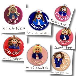 Name Badge Personalised Handmade Polymer Clay- Occupations, Nurses, Doctors,