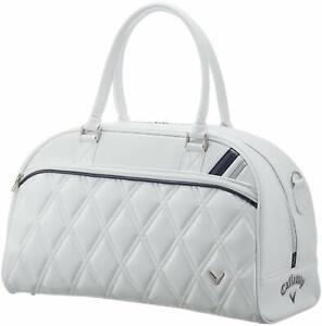 Callaway Boston Bag Sport Women's White/Silver PU Leather 2017 Model 5917199 New