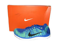 Nike Free 4.0 Flyknit Photo Blue Running Shoes 717075-400 Mens Size 11.5 Rare