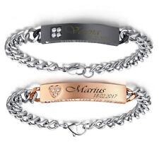 Passion ID Edelstahl Armband Partnerarmbänder mit Gravur nach Wunsch mit Box