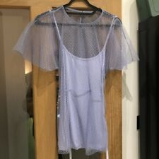 Topshop Lilac Blue Top With Tags Size 8