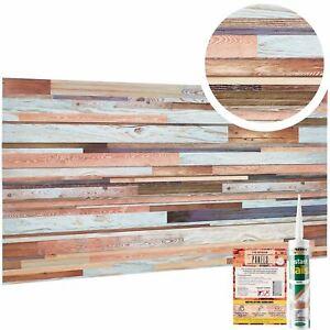 3D Reclaimed Barn Board Effect PVC Wall Cladding Panel Rustic Wooden Pallet Look