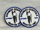 VINTAGE 2 Shriners Hospital October 1989 Houston unit lot Patch