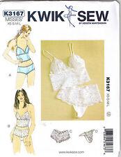 Boycut Panties Briefs Thong Close Fit Camisole Lingerie Sewing Pattern XS S M L