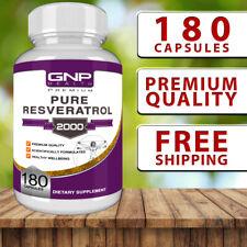 Resveratrol - 180 Capsules - High Strength Anti-Aging Formula with Acai