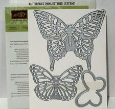 Stampin Up BUTTERFLIES Thinlits Dies Sizzix Bigshot butterfly swallowtail