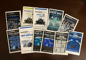 Bilingual Canadian Intellivision Manuals for Action Games From Mattel