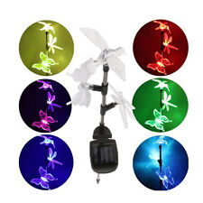 Solar Lights Set of 3 Color-Changing Garden Stake Light bird Dragonfly Butterfly