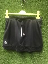 ADIDAS Ladies T16 Skort W Black With White Logo Tennis Skirt Size XL Climalite