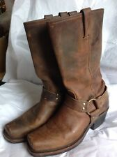 FRYE 77300 Brown Leather Harness Motorcycle Boots Women's Size 9