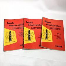 1st Ed 1955 BASIC ELECTRONICS VOL 2, 5, 6 Van Valkenburgh Rider Publications