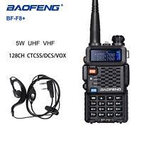 Baofeng F8+ Walkie-Talkie Dual Band 5W VHF/UHF Mit 128 Kanälen VOX FM Ham Radio