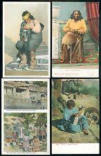 4- Native American-Indian Post cards 1910-1920 era     4 postal unused