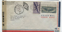 1944 St. Louis to Brazil airmail cover C24 and 10ct transport [y4415]