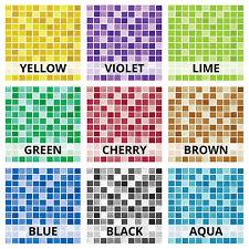 Glass Effect Mosaic Tile Sticker Transfer Decal For Kitchen Bathroom DIY - GM1
