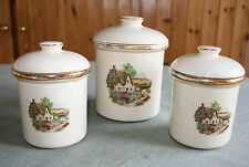 Seton Pottery, Cornwall - Set of 3 Lidded Cannisters