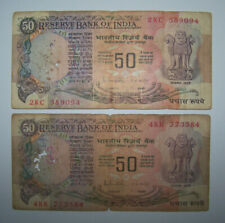 INDE - INDIA - BILLETS - 2 * 50 RUPEES - ROUPIES