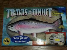 """New listing Travis the Singing Trout Motion Activated """"Do Wah Diddy Diddy"""" & """"Rock the Boat"""""""