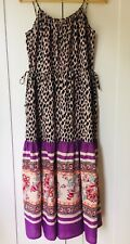 Tigerlily Leopard Print And Floral Summer Maxi Dress Size 10-12