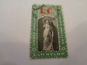 1864 Lower Canada Law Stamp $1