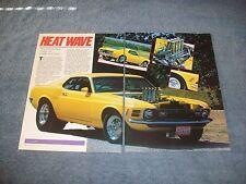 "1970 Mustang Fastback Vintage Pro Street Article ""Heat Wave"" SportsRoof"""