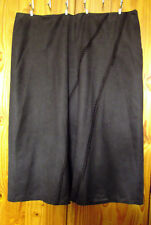 M&Co Size 26 Brushed Finish Lined Skirt Chocolate Brown