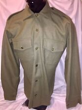 VINTAGE STYLE BRITISH ARMY WOOL SHIRTS, OD, SIZE 37 cm collar, New/old stock