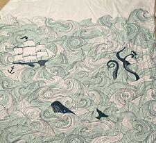 Danica Studio Shower Curtain Odyssey Kraken Boat Whale 72�x72� Cotton