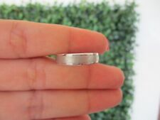 Men's Wedding Ring 14k White Gold WR164 sep (MTO) *