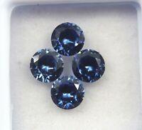 Natural Blue Tanzanite Round Cut Gems GGL Certified Origin Tanzania