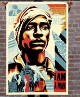 SIGNED! Shepard Fairey Voting RIghts Are Human Rights Print Obey Giant 24x36