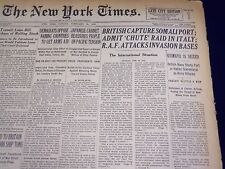 1941 FEBRUARY 16 NEW YORK TIMES - BRITISH CAPTURE SOMALI PORT - NT 1311