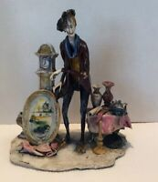 """Vintage Lo Scricciolo THE PEDDLER by A. Colombo -SIGNED - Large 10"""" x 8""""x 6"""""""