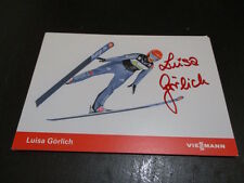 70404 Luisa Görlich Skispringen original signierte Autogrammkarte