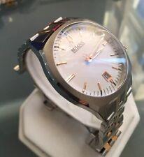 Mens Genuine Bulova Accutron II 98B220  Two Tone Rose Gold Precisionist Watch