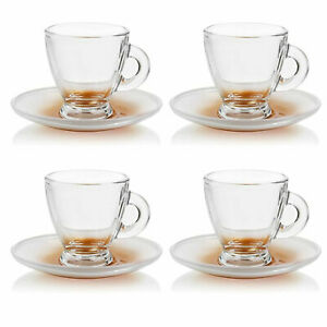 Espressotassen Set Mokka-Tassen aus Glas für Kaffee und Espresso, 8-teilig
