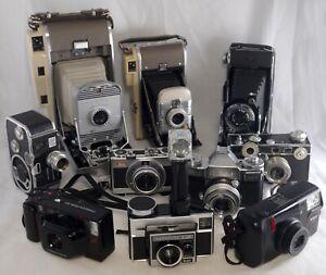 10 Vintage Film Cameras Small Collection Nikon Kodak Polaroid Zeiss Argus Agfa