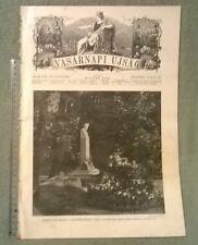 1912 Arany János VASARNAPI UJSAG magazine Hungary Bársony István Madarász Imre