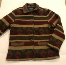 VTG Woolrich Southwestern Aztec Colorful Wool Coat Jacket Women's Large